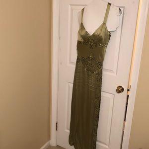 Sue Wong sage green dress. Size 8